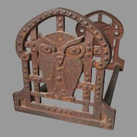 Antique Arts & Crafts, Mission,  Expanding Bookends with Owl Motif