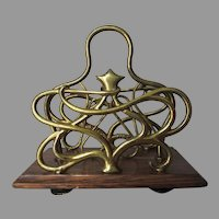 Lovely Antique c1902 Art Nouveau Letter Holder with Star Motif