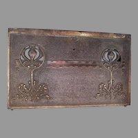 Antique Art Nouveau Decorative Architectural Panel, Cast Iron