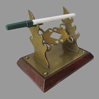 Antique Edwardian Pen Stand, Desk Top Pen, Pencil Holder