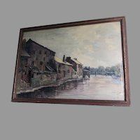 Antique Circa 1900 Watercolor Painting, Signed Watson