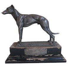 Antique Greyhound Dog Sculpture, Trophy