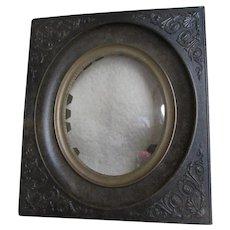 Antique Paris, France, Gutta Percha, Vulcanite Miniature Picture Frame