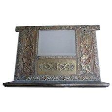 Antique Gothic Mirrored Shelf with Gargoyles, Dragons