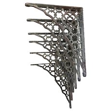 6 Matching Antique Cast Iron Brackets, Architectural Corbels