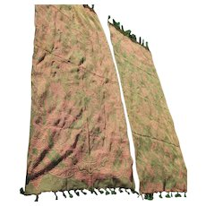 Pair Beautiful Antique Victorian Portiere, Curtain, Drapes