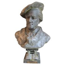Antique French Bust of Wilhelm Richard Wagner, Music Composer