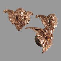 Antique Gilded Cherub Angels, Architectural Elements