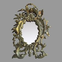 Antique Brass, French Rococo Picture Frame, Vanity Mirror