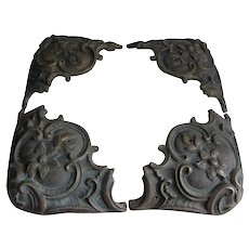 Antique Bronze Architectural Elements, Handles, Corner Ornaments