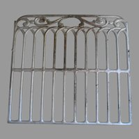 Antique Architectural Cast Iron Grate, Garden, Fireplace, Stove