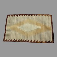 Early Antique Native American Indian Navajo Rug, Hand Dyed & Hand Woven