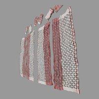 10 Panels Arts & Crafts, Art Deco Curtain Panels