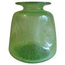 Antique Art Glass Blown Glass Vase with Many Bubbles