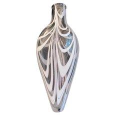 Antique 19th Century Nailsea Blown Glass Flask