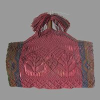 Lovely Antique Victorian Macrame Tea Cozy with Tassel