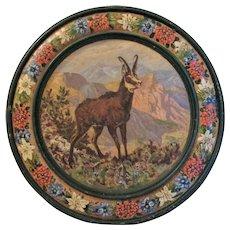 Vintage Oil Painting of Ibex, German Shooting Gallery Target