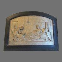 Antique The Princess by Tennyson, Repousse Plaque, Sculpture