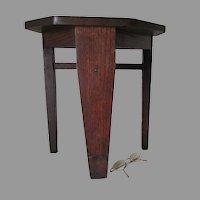 Antique Arts & Crafts, Mission Oak Stool, Table