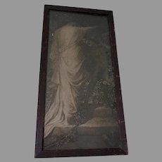 George Frederic Watts Print, Love and Death, Circa 1885