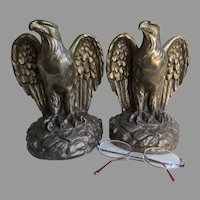 Patriotic Americana Bald Eagle Bookends, Office, Desk Accessory