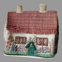 Charming Art Deco English Cottage Tea Cozy, Cat in Window
