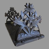 Antique German Black Forest, Swiss Hand Carved Bookends