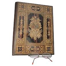 Fine Antique Portfolio, Travel Desk, Letter Holder, Oxford & Masonic