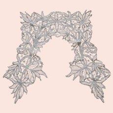 Beautiful Antique Lace Collar, Hand Made European Fashion Accessory