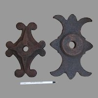 Antique Architectural Building Ornaments, Cast Iron 19th Century