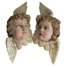 Vintage Cherub Angel Sculptures, Ecclesiastical, Signed Haering