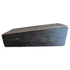 Early Antique c1860s Primitive Wood Box, Original Paint