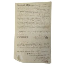 C1803 Stephen Dutilh Philadelphia POA, Signed Notary Clement Biddle Document