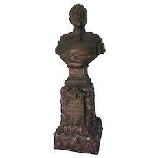 Antique Bust of Otto von Bismarck, German Chancellor, Military