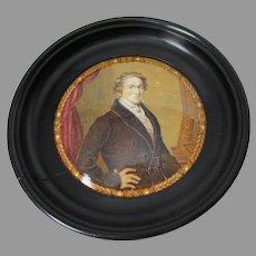 Antique Staffordshire Prattware Pot Lid, Sir Robert Peel