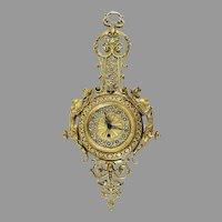 Antique Gebruder Junghans Wall Clock with Gargoyles, Dragons