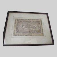 Antique c1822 Engraving 10 Pound Note, Print, William Robert Smart