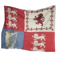 Vintage Scottish Heraldry Flag, Banner, Armorial Wall Tapestry
