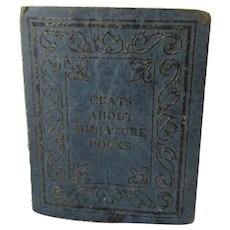 Rare c1932 Chats About Miniature Books, Wolcott, Private Printing 250 copies