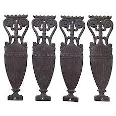 4 Antique Bronze Architectural Element, Urn Garden Elements