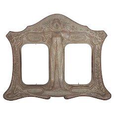 Lovely Antique Art Nouveau Picture Frame, Avante Garde Lady
