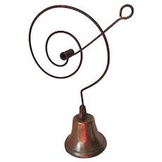 Antique Primitive Shopkeepers Bell, Door Bell, Brass