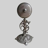 Rare Antique Figural Table Bell, Servant Call with Little Boy