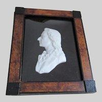Antique Miniature Bisque Bust of Johann von Schiller, Grand Tour