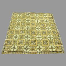 Antique Woven Tapestry Tablecloth with Celtic Design