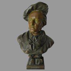 Antique Sculpture, Bust of Wilhelm Richard Wagner, Music Composer