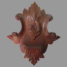 Pretty Antique c1880s Architectural Element, Medallion, Home Decor