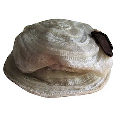 Lovely Antique Circa 1900 Ladies Edwardian Hat, Fashion Accessory