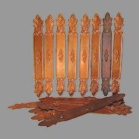 16 Vintage Copper Gutter Straps, Architectural, Garden Decor
