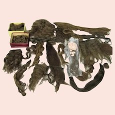 Large Group of Antique Hair, Wig Extensions, Fashion Accessories